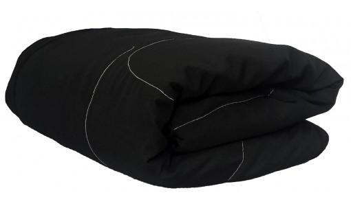 Dwustronna pikowana narzuta 200/220 cm (czarny)
