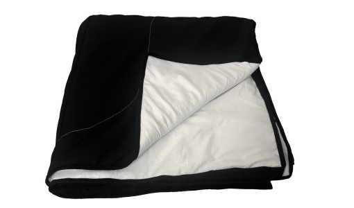 Dwustronna pikowana narzuta 200/220 cm (czarno-biała)