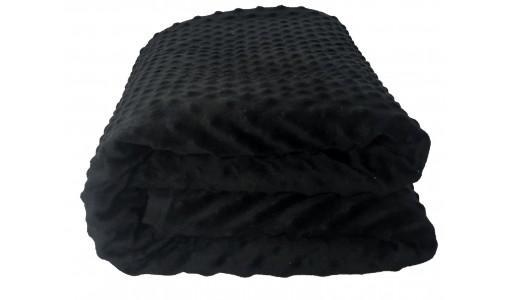 Dwustronna pikowana narzuta 160/200 cm (czarno-biała)