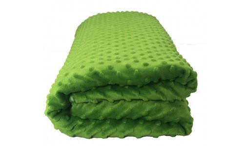 Narzuta na łóżko 160/200 cm WŁOCHACZ MINKY (zielony)