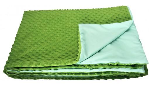 Narzuta na łóżko 200/220 cm WŁOCHACZ MINKY (zielony)