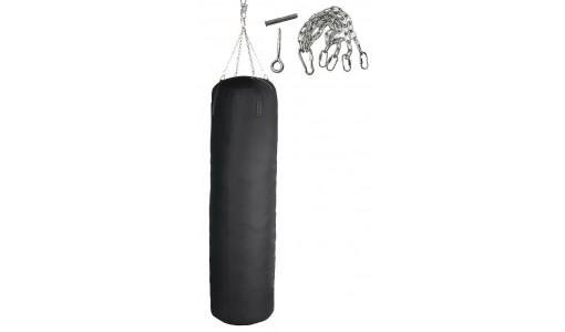Pełny worek treningowy bokserski 150/45 + uchwyt (czarny)