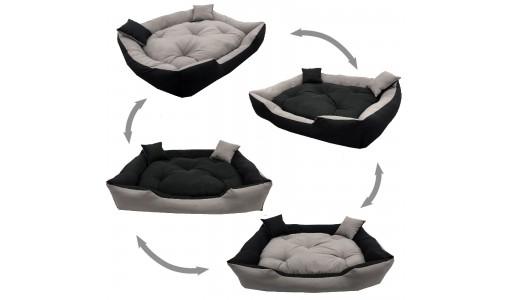 Materiałowe legowisko poduszka kojec 115 X 95 cm 4w1