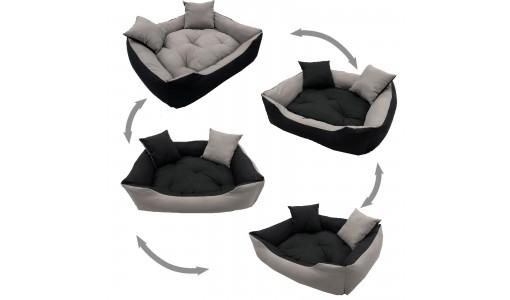 Materiałowe legowisko poduszka kojec 55 X 45 cm 4w1