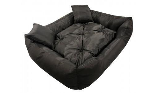 Wodoodporne czarne legowisko dla psa kanapa 115 X 95 + 2 poduszki