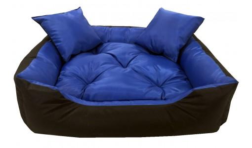 Wodoodporne nbieskie legowisko kanapa 45 X 35 + 2 poduszki
