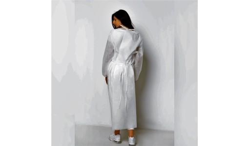 Flizelinowy fartuch ochronny