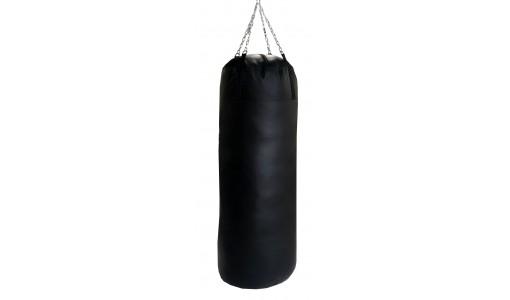 Pełny worek treningowy bokserski 130/30 + uchwyt (czarny)