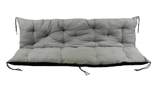 Poduszka na ławkę ogrodową 180x60x50 cm szara