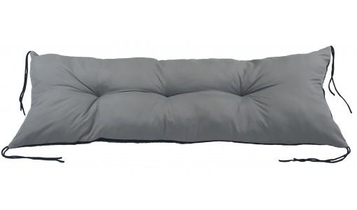 Poduszka na ławkę ogrodową, huśtawkę 120x40 cm szara