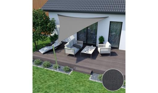 Żagiel przeciwsłoneczny wodoodporny 3x3x3m szary
