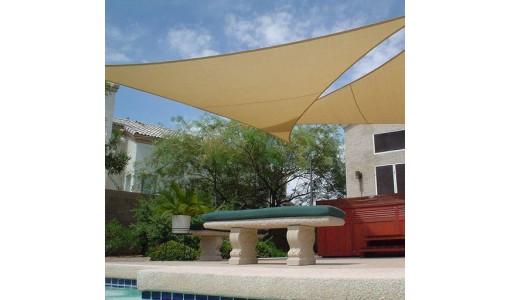 Żagiel przeciwsłoneczny wodoodporny 3x3x3m beżowy