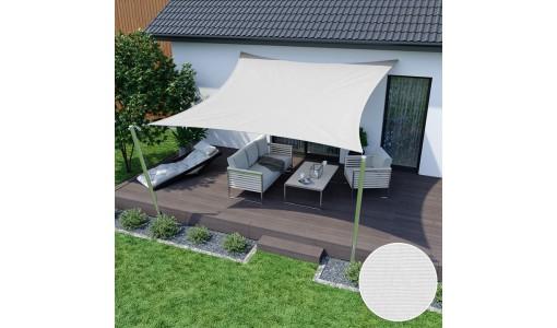 Żagiel przeciwsłoneczny wodoodporny 3x3m biały
