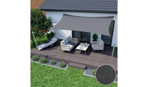 Żagiel przeciwsłoneczny wodoodporny 3x5m szary