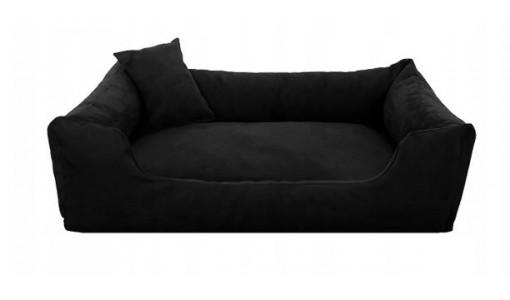 Luksusowe welurowe legowisko 45x35cm + 2 poduszki kolor czarny