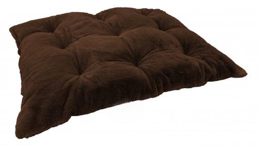 Legowisko poduszka ze sztucznego futra RABBIT 45x55cm kolor brązowy