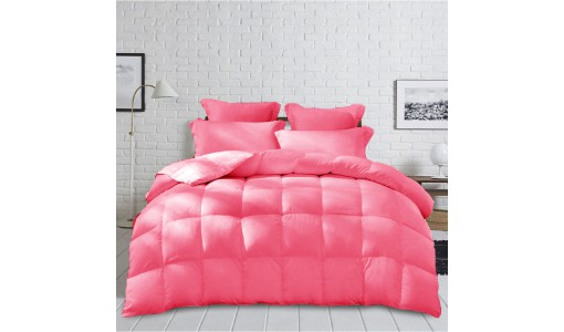 Gruba Zimowa Kołdra z mikrofibry 160x200cm kolor różowy
