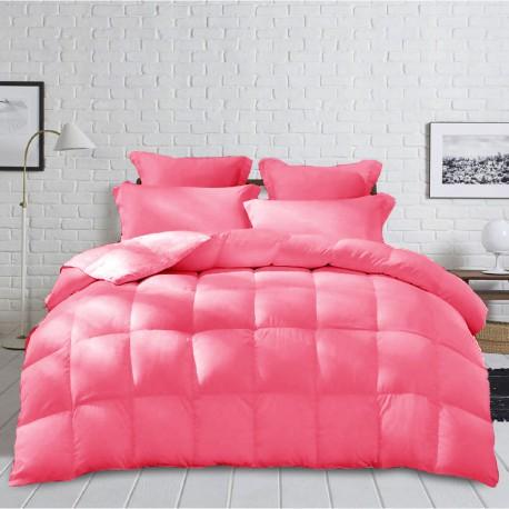 Gruba Zimowa Kołdra z mikrofibry 140x200cm kolor różowy