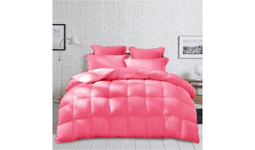 Gruba Zimowa Kołdra z mikrofibry 180x200cm kolor różowy