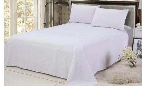 Prześcieradło bawełniane 160x200 cm kolor biały
