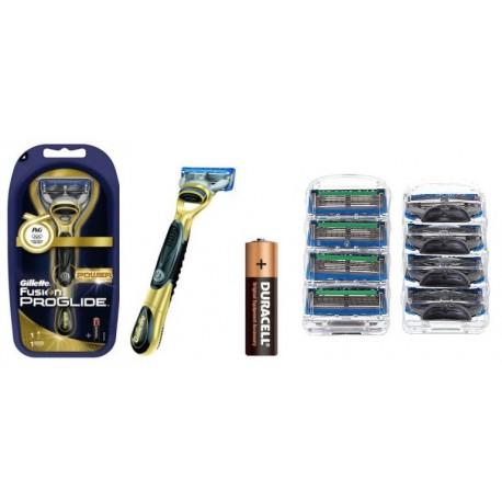 Gillette Fusion Proglide Power + ostrza zamienne + bateria