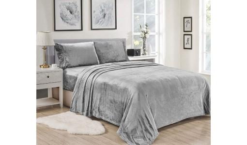 Elegancka welurowa narzuta na łóżko 160x200cm kolor czarny