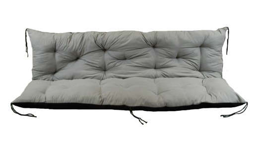 Poduszka na ławkę ogrodową 100x60x50 cm szara