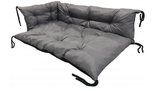 Poduszka na ławkę ogrodową, huśtawkę 120x80x40 cm szara