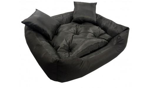 Wodoodporne legowisko typu kojec 55x45cm + 2 poduszki kolor czarny