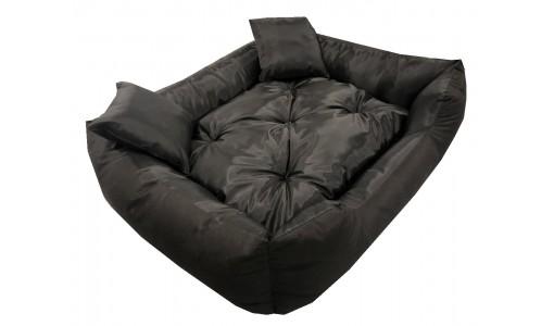 Wodoodporne legowisko typu kojec 100x75cm + 2 poduszki kolor czarny
