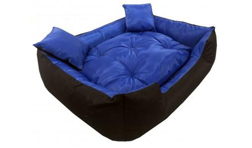 Wodoodporne legowisko typu kojec 100x75cm + 2 poduszki kolor niebieski