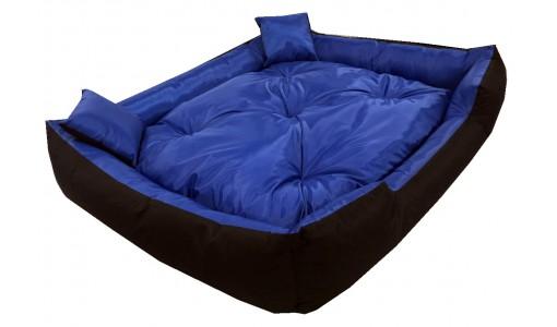 Wodoodporne legowisko typu kojec 130x105cm + 2 poduszki kolor niebieski