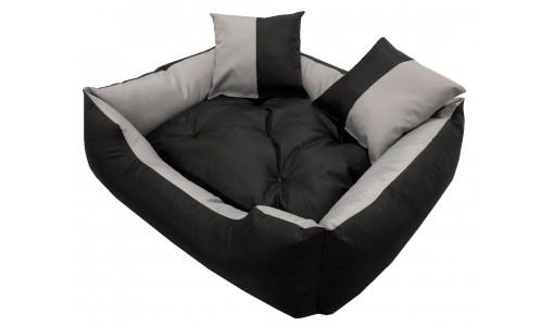 Wodoodporne legowisko kanapa 4w1 45x35cm + 2 poduszki szaro-czarne