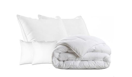 Kołdra zimowa bawełna + 4 poduszki