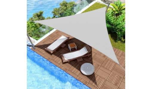 Żagiel przeciwsłoneczny wodoodporny 3x3x3m biały