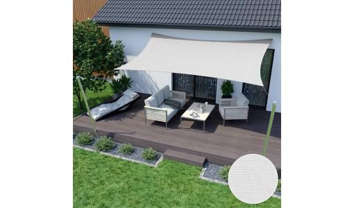 Żagiel przeciwsłoneczny wodoodporny 4x3m biały