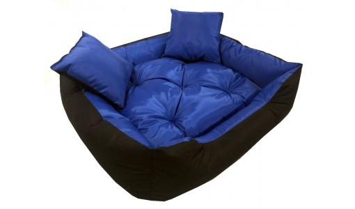 Wodoodporne legowisko typu kojec 55x45cm + 2 poduszki kolor niebieski