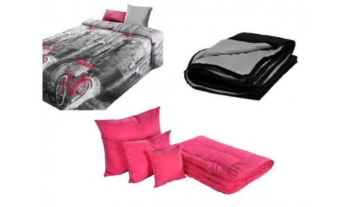 Kołdra wełna zimowa + 4 poduszki + pościel + narzuta