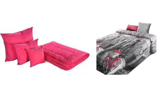 Zimowa kołdra wełna 140/200 cm + 4 poduszki + pościel