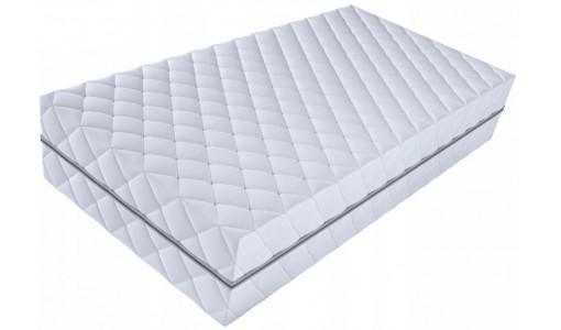 Pikowany pokrowiec na materac z bawełny 90x200cm kolor biały