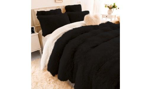 Koc narzuta włochacz shaggy tiffany 160x200cm kolor czarny