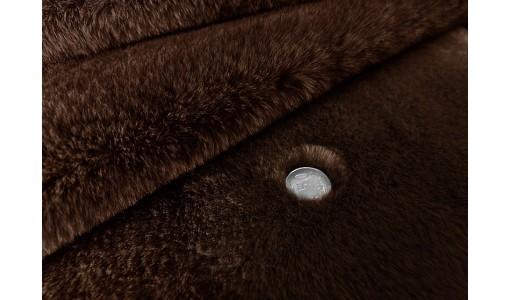 Koc narzuta na łóżko sztuczne futro RABBIT 160x70cm kolor brązowy