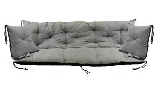 Poduszka na ławkę ogrodową 100x60x50 cm + 2 x 40x40 cm
