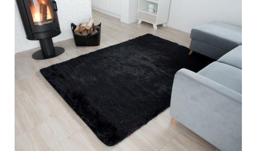 Pluszowy mięciutki dywan Shaggy Tiffany 80x160cm kolor czarny