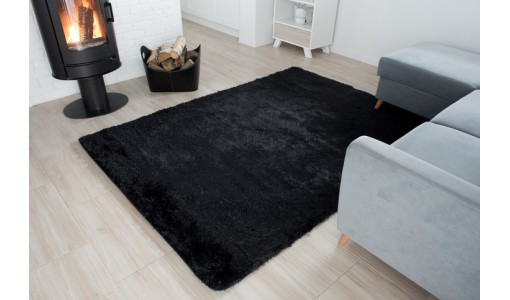 Pluszowy mięciutki dywan Shaggy Tiffany 100x160cm kolor czarny