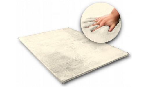 Pluszowy gęsty dywan RABBIT 80x160cm kolor beżowy