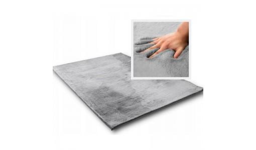 Pluszowy gęsty dywan RABBIT 80x160cm kolor szary
