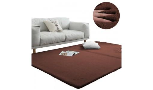 Pluszowy gęsty dywan RABBIT 80x160cm kolor brązowy