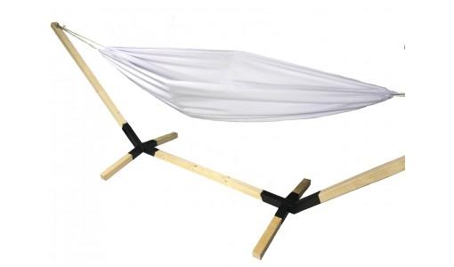 Hamak ogrodowy 230/160 + pokrowiec + poduszka + mocowanie (biały)