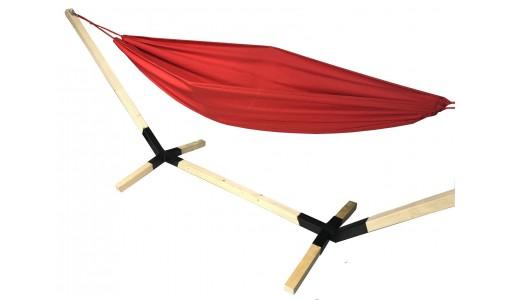 Hamak ogrodowy 230/160 + pokrowiec + poduszka + mocowanie (czerwony)